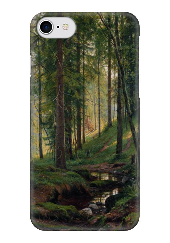 Чехол для iPhone 7 глянцевый Printio Ручей в лесу случай на мосту через совиный ручей