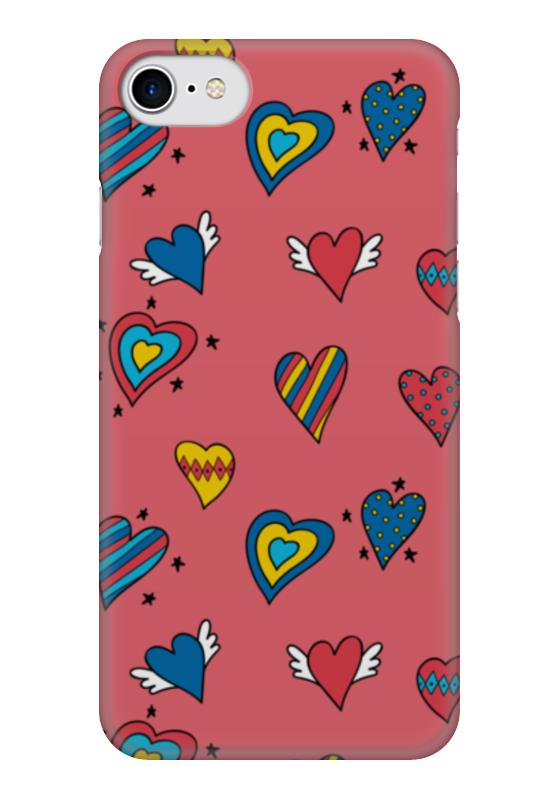 Чехол для iPhone 7 глянцевый Printio Heart doodles чехол для iphone 7 глянцевый printio sweet heart