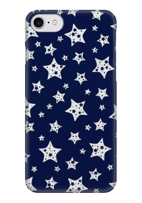 Чехол для iPhone 7 глянцевый Printio Звёзды чехол для карточек пионы на синем фоне дк2017 113