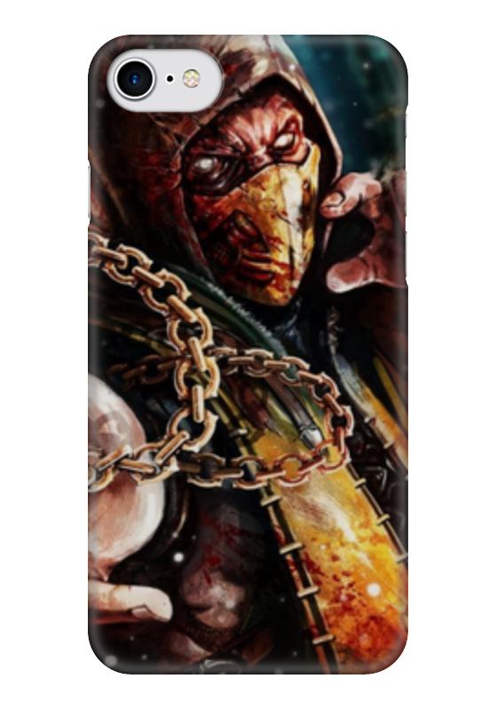 Чехол для iPhone 7 глянцевый Printio Скорпион (мортал комбат)