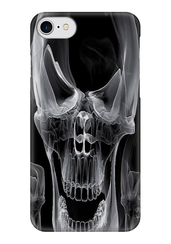 Чехол для iPhone 7 глянцевый Printio Череп чехол для iphone 7 глянцевый printio череп кошки