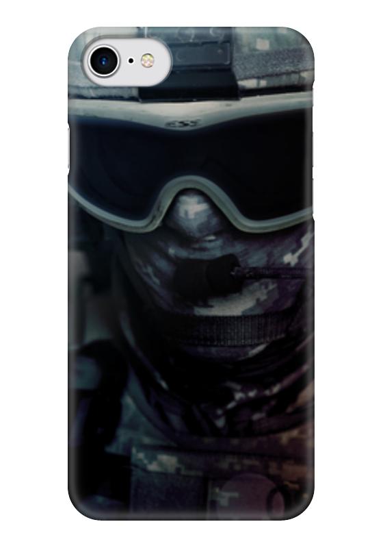 Чехол для iPhone 7 глянцевый Printio Солдат форма для солдат срочников