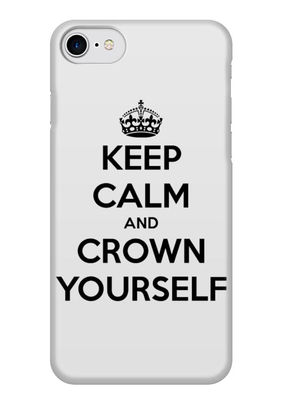 Чехол для iPhone 7 глянцевый Printio Keep calm and crown yourself футболка wearcraft premium printio keep calm