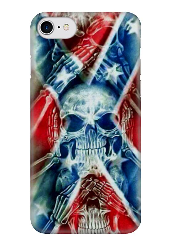 Чехол для iPhone 7 глянцевый Printio Флаг конфедерации сша чехол для iphone 7 глянцевый printio русский флаг