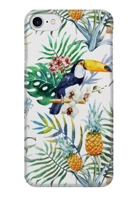 Чехол для iPhone 7 глянцевый Printio Экзотические цветы саломатина е ред рисуем акварелью экзотические цветы для детей от 7 лет