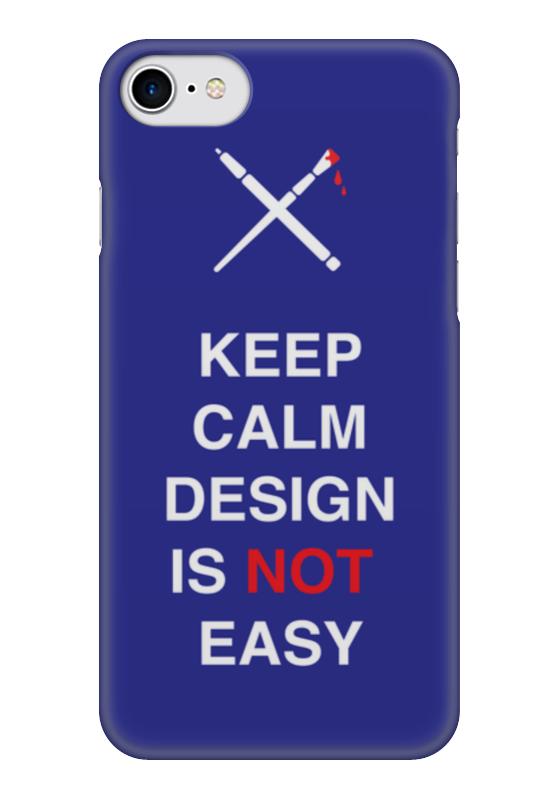 Чехол для iPhone 7 глянцевый Printio Keep calm design is not easy. тетрадь на пружине printio keep calm design is not easy