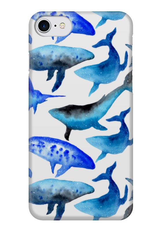 Чехол для iPhone 7 глянцевый Printio Акварельные киты чехол для iphone 7 глянцевый printio horror art