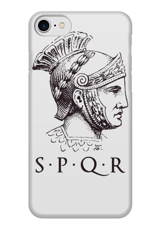 Чехол для iPhone 7 глянцевый Printio Сенат и граждане рима