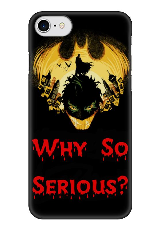 Чехол для iPhone 7 глянцевый Printio Чего такой серьезный чехол