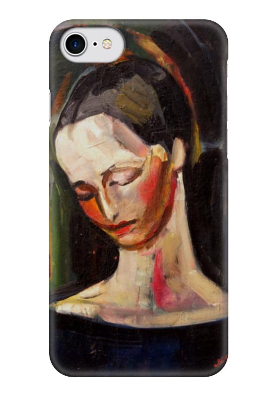 Чехол для iPhone 7 глянцевый Printio Женский портрет (илья машков) илья колмановский