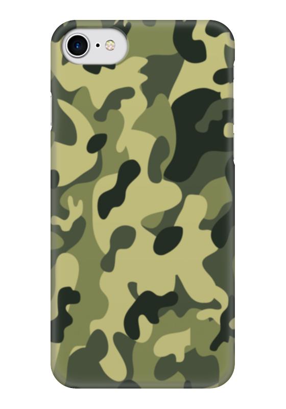 где купить Чехол для iPhone 7 глянцевый Printio Зеленый хаки по лучшей цене