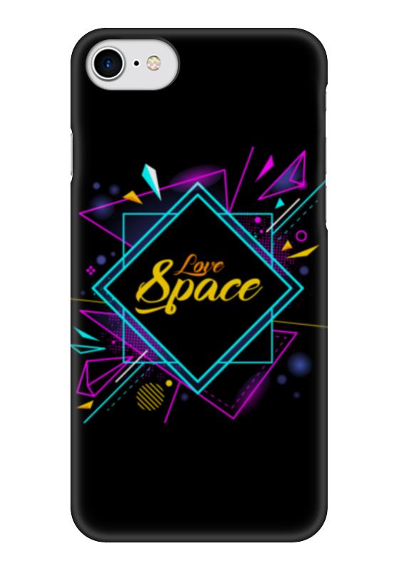 Чехол для iPhone 7 глянцевый Printio Love space чехол для iphone 7 глянцевый printio первый полет в космос космонавта юрия гагарина