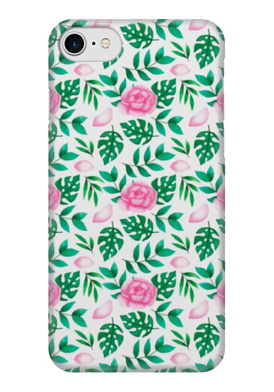 Чехол для iPhone 7 глянцевый Printio Акварельные цветы чехол для iphone 7 глянцевый printio horror art