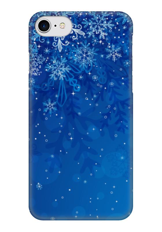 Чехол для iPhone 7 глянцевый Printio Снежинки чехол для iphone 7 глянцевый printio цветы на голубом