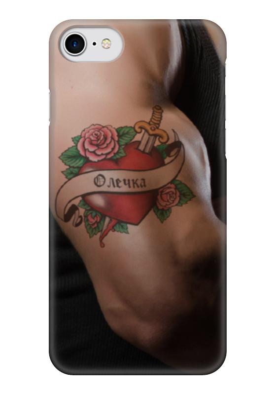 Чехол для iPhone 7 глянцевый Printio Олечка чехол