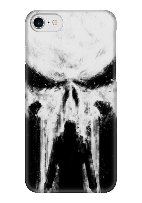 Чехол для iPhone 7 глянцевый Printio Каратель (the punisher) чехол для iphone 7 plus глянцевый printio punisher каратель