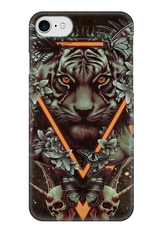 Чехол для iPhone 7 глянцевый Printio Арт тигр пазл 360 арт терапия тигр 02349