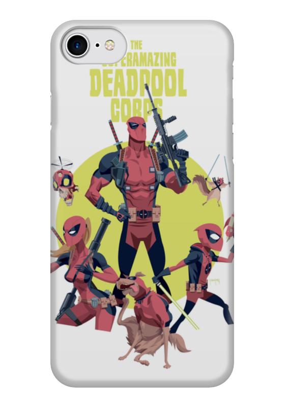 Чехол для iPhone 7 глянцевый Printio Deadpool family чехол для iphone 6 глянцевый printio deadpool family