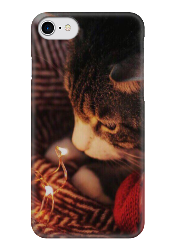 Чехол для iPhone 7 глянцевый Printio Новогодний кот чехол для iphone 6 глянцевый printio кот бу