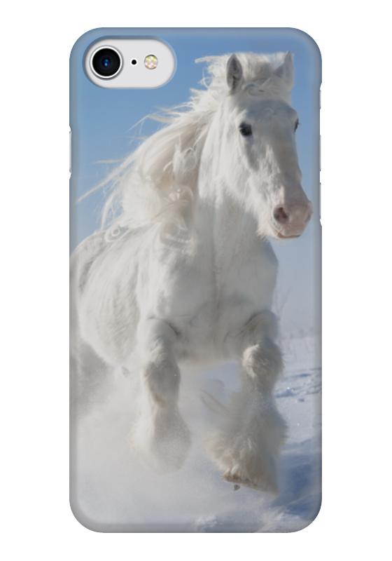 Чехол для iPhone 7 глянцевый Printio Лошадь чехол для iphone 7 глянцевый printio сад на улице корто сад на монмартре