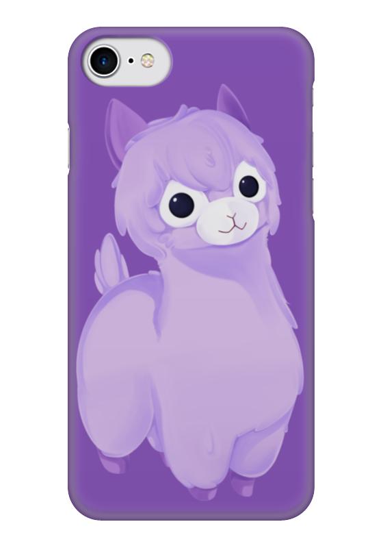 Чехол для iPhone 7 глянцевый Printio Alpaca / альпака чехол для iphone 7 глянцевый printio skull art