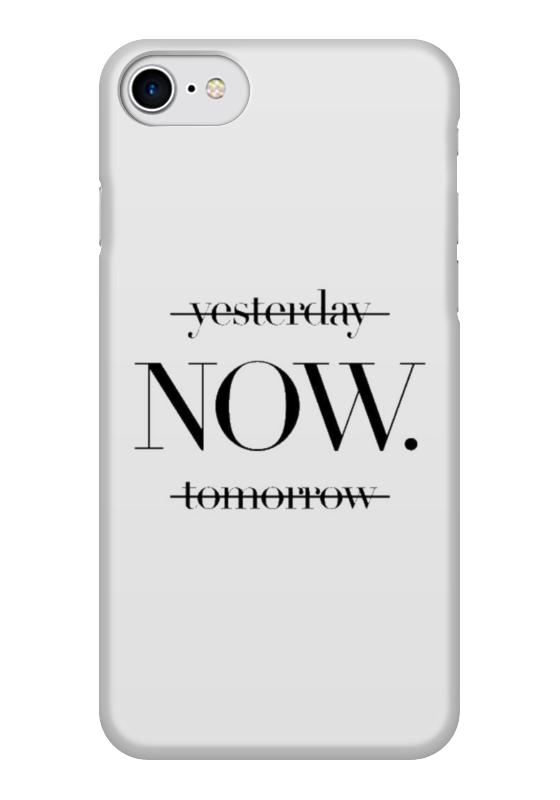 Чехол для iPhone 7 глянцевый Printio Quotes