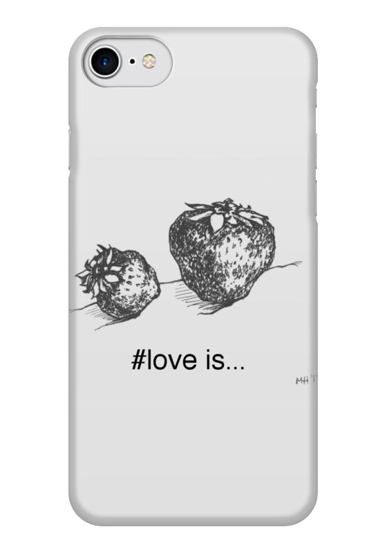 Чехол для iPhone 7 глянцевый Printio Клубничка чехол для iphone 5 printio чехол с мыслями о любви