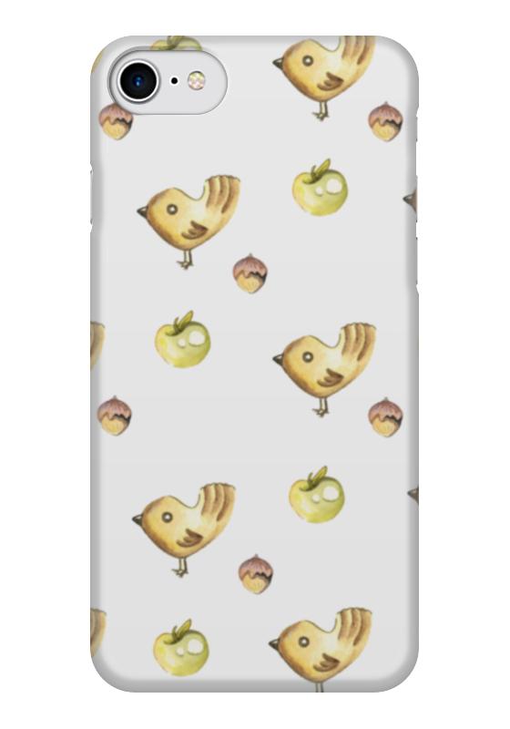 Чехол для iPhone 7 глянцевый Printio Birds