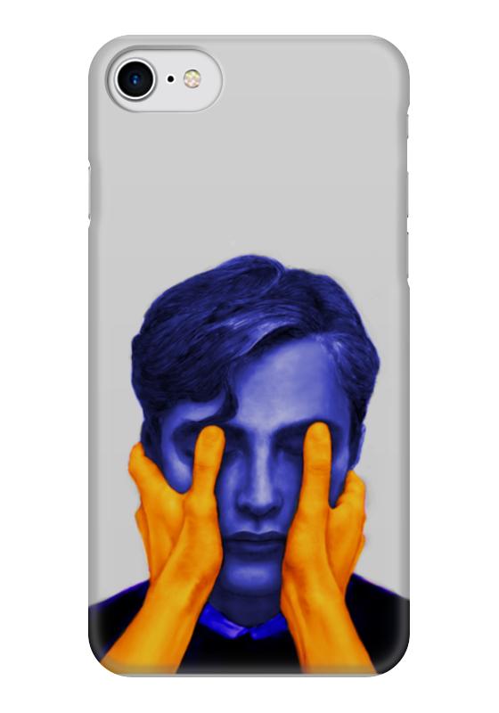 Чехол для iPhone 7 глянцевый Printio Blue and orange боксмод sigelei fuchai 213w tc blue силик чехол