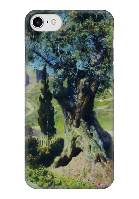 Чехол для iPhone 7 глянцевый Printio Олива в гефсиманском саду в поленов