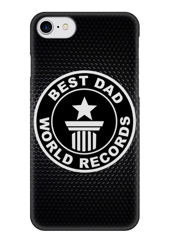 Чехол для iPhone 7 глянцевый Printio Best dad (лучший папа)