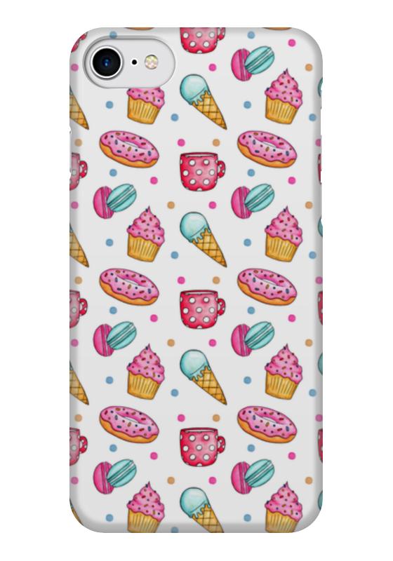 Чехол для iPhone 7 глянцевый Printio Акварельный сладости чехол для iphone 7 глянцевый printio альтрон мстители