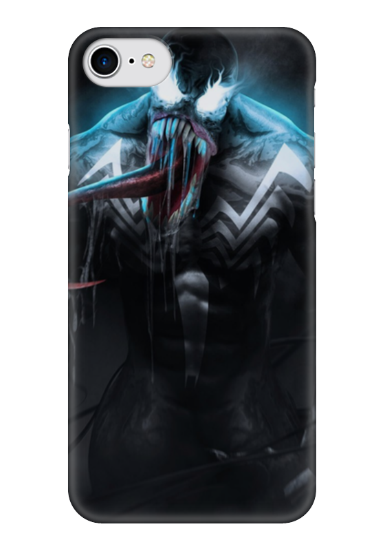 Чехол для iPhone 7 глянцевый Printio Веном (venom) чехол для iphone 7 глянцевый printio skull art