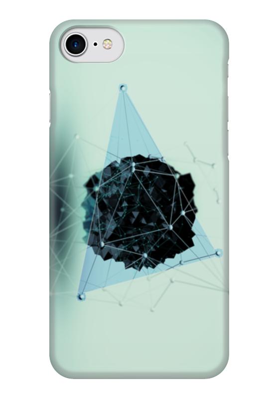 Чехол для iPhone 7 глянцевый Printio Треугольник чехол для iphone 7 глянцевый printio horror art