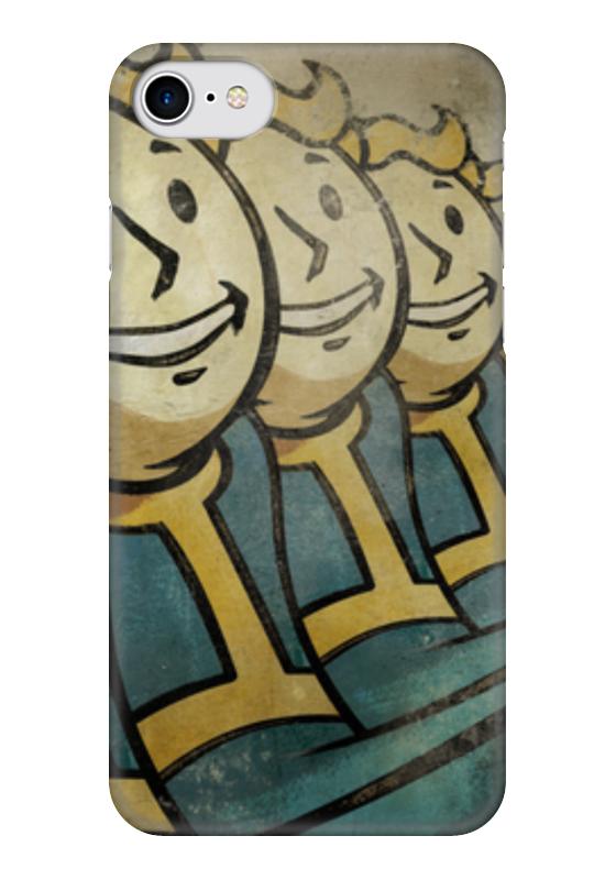 Чехол для iPhone 7 глянцевый Printio Vault boy (fallout) fallout vault boy bi fold wallet dft 1961