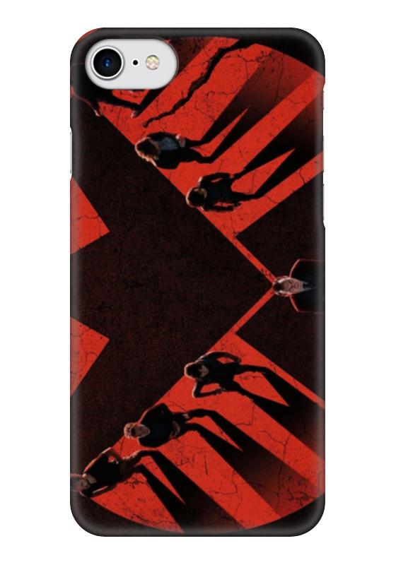 Чехол для iPhone 7 глянцевый Printio Щит (капитан америка) чехол для iphone 7 глянцевый printio альтрон мстители