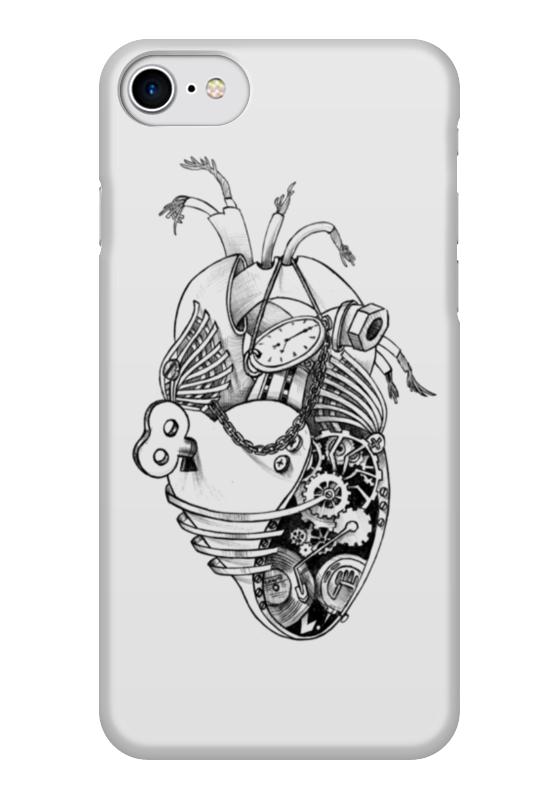 Чехол для iPhone 7 глянцевый Printio Механическое сердце пламенный мотор машинка инерционная volvo пожарная охрана