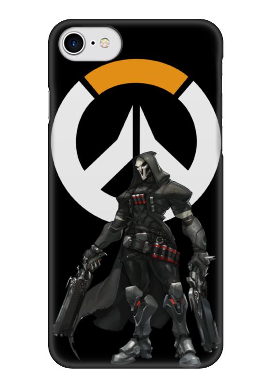 Чехол для iPhone 7 глянцевый Printio Overwatch reaper / жнец овервотч