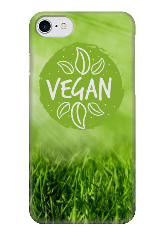 Чехол для iPhone 7 глянцевый Printio Go vegan! go go hz101 7