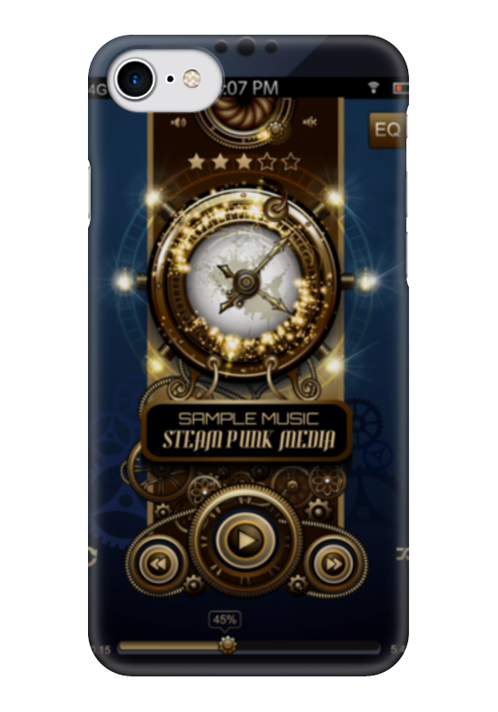 Чехол для iPhone 7 глянцевый Printio Стимпанк-музыка ii