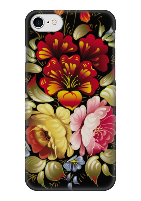 Чехол для iPhone 7 глянцевый Printio Хохлома цветы хохлома в промыслах нижнегно новгорода
