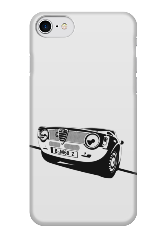 Чехол для iPhone 7 глянцевый Printio Retro alfa romeo racing наклейки tony 2 74 alfa romeo mito 147 156 159 166 giulietta gt