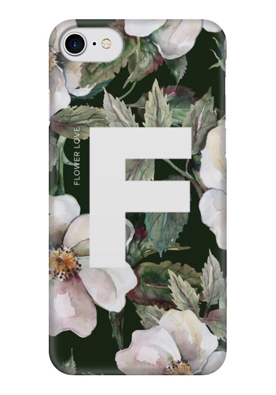 Чехол для iPhone 7 глянцевый Printio Flower love чехлы для телефонов with love moscow силиконовый дизайнерский чехол для meizu m3s перья