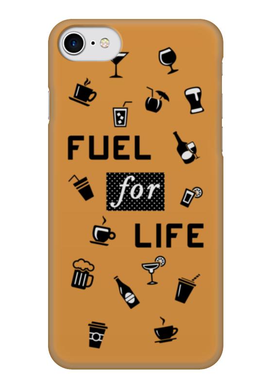 Чехол для iPhone 7 глянцевый Printio Fuel for life