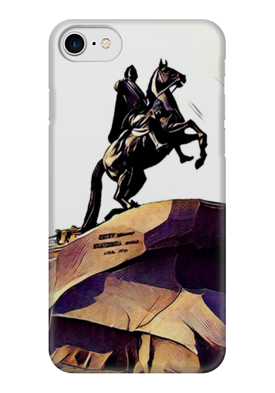 Чехол для iPhone 7 глянцевый Printio Медный всадник подстаканник ч медный всадник