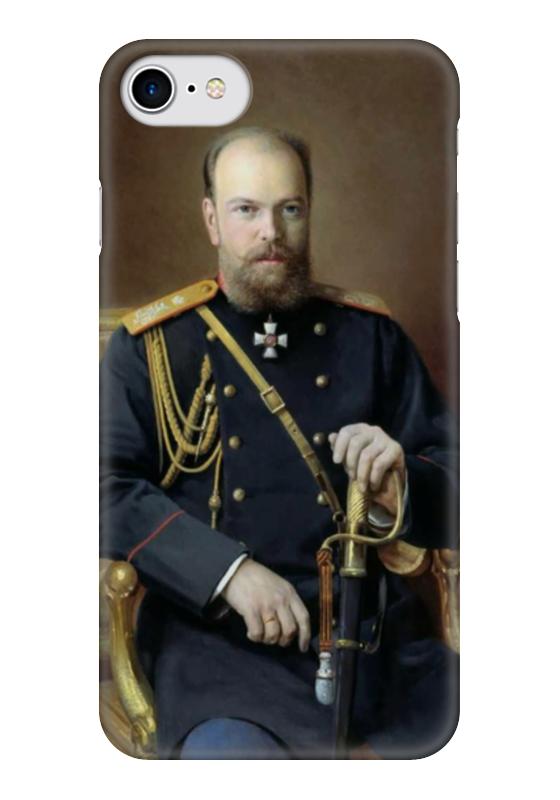 Чехол для iPhone 7 глянцевый Printio Портрет александра iii (иван куликов) иван комлев ковыль