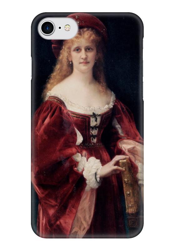 Чехол для iPhone 7 глянцевый Printio Портрет аристократки из венеции прогулки по венеции