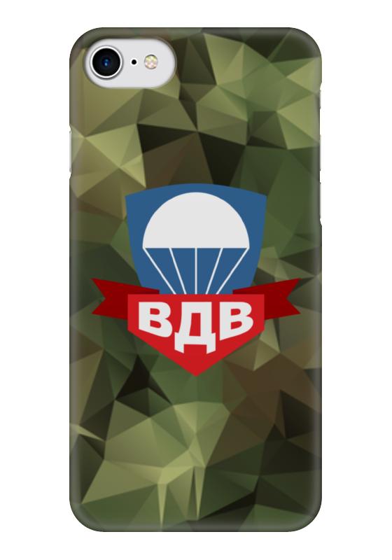 Чехол для iPhone 7 глянцевый Printio Воздушно-десантные войска флаг пограничных войск россии великий новгород