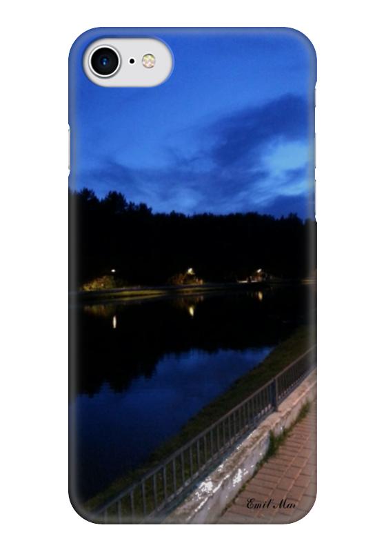 Чехол для iPhone 7 глянцевый Printio Beautiful lake