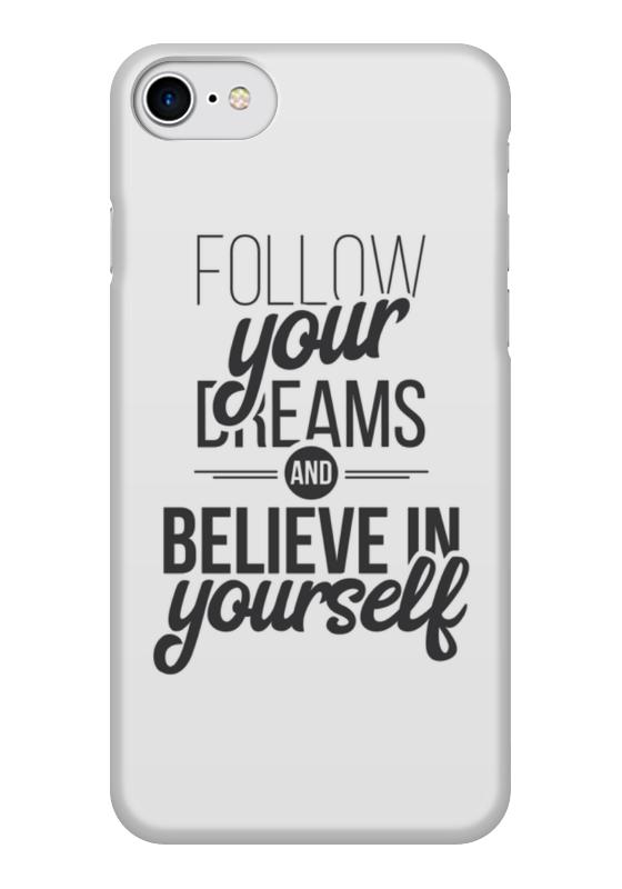 Чехол для iPhone 7 глянцевый Printio Follow your dreams холст 50x50 printio follow your dreams